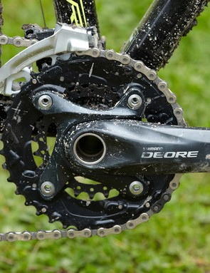 The Deore and SLX components making up the Charger 9.1's transmission continue to set the benchmark for performance and reliability in the mid-range