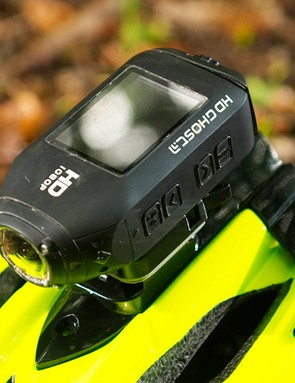 Helmet-mounted camera
