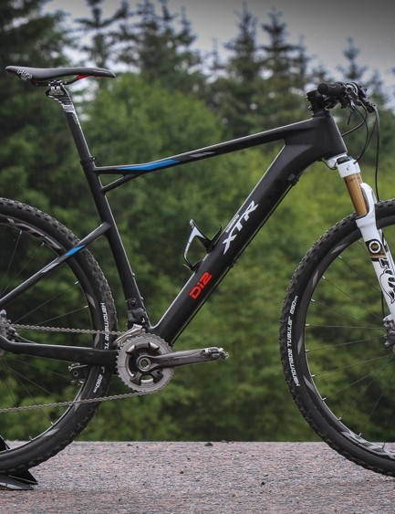 The new XTR Di2 is on shown on a very few BMCs - proven with Absalon's BMC last weekend