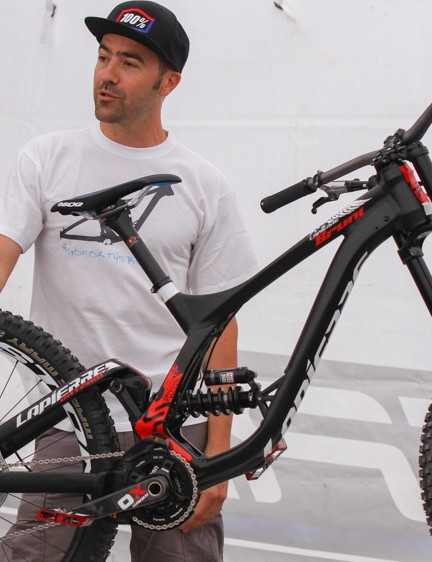 Nicolas Vouilloz was on hand to talk about the new Lapierre DH bike