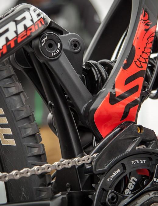 The heart of Lapierre's new motocross-inspired SLT design