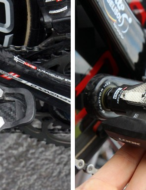 Even pro riders at the Giro d'Italia and Paris-Roubaix suffered the same issues we experienced with our test pedals. Awkwardly hanging pedals were almost ubiquitous among Look KéO Blade 2 users while some Lotto-Belisol riders resorted to strips of handlebar tape to improve the fit