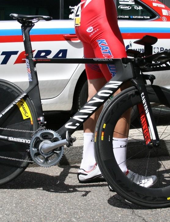 Dmitry Kozontchuk's (Katusha) Speedmax CF TT machine