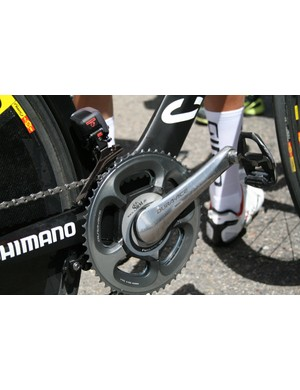 Kozontchuk's TT bike still has an old generation Shimano Dura-Ace 7800 crankset – probably because of SRM compatibility
