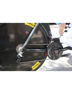 Rotor Flow cranks with and Rotor NoQ aero chainrings