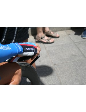 Hesjedal wore Castelli's Aero Speed Gloves – which are more like mitts