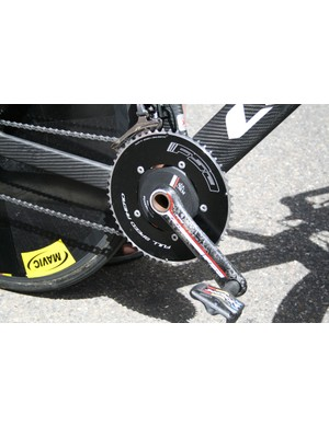 Taaramae was using a massive 56t FSA chainring