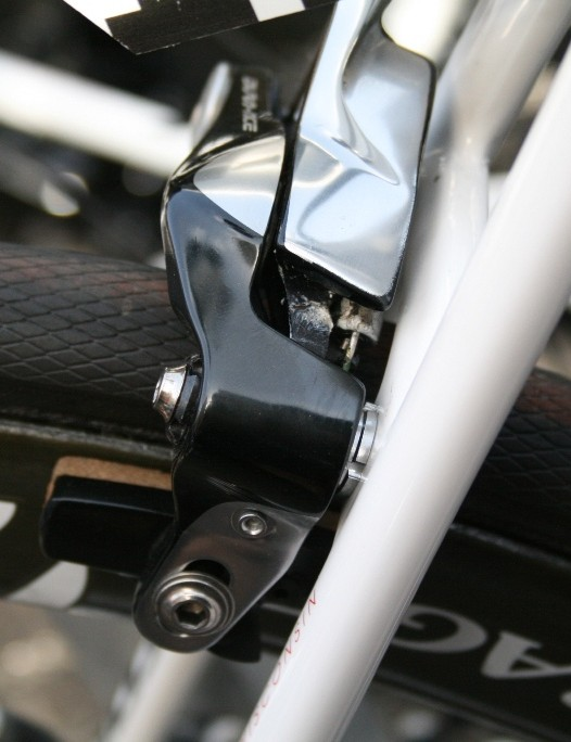 Trek are using a Shimano Dura-Ace Direct Mount brake on the rear