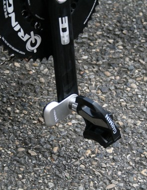 Bauer's bike was carrying Garmin Vector power pedals