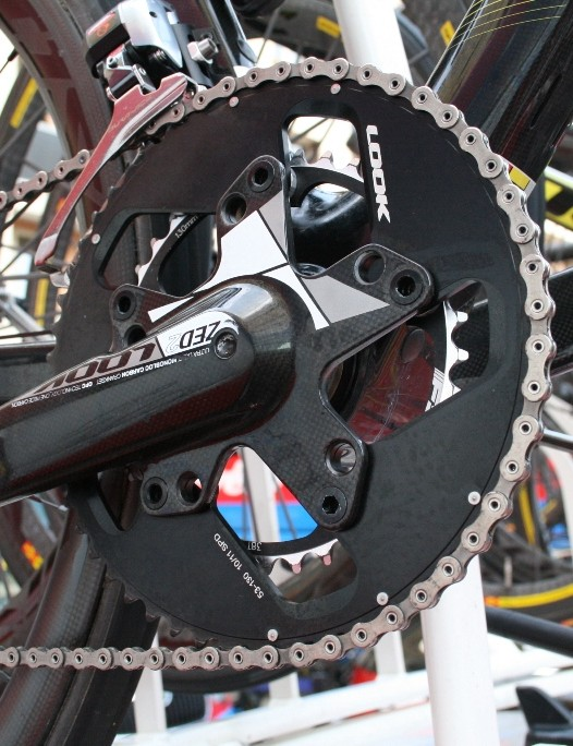 A Look Zed2 cranks with an ever-so-slightly leg saving 53/38 chainring combination