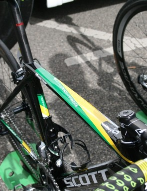 Green and gold paintwork for Aussie champion Simon Gerrans (Orica-GreenEdge)