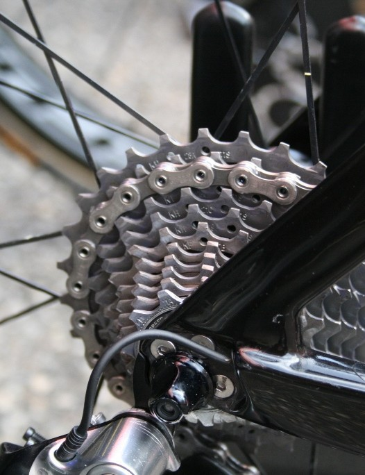 Another well-spread cassette on Elia Favilli's (Lampre-Merida) Reacto Evo