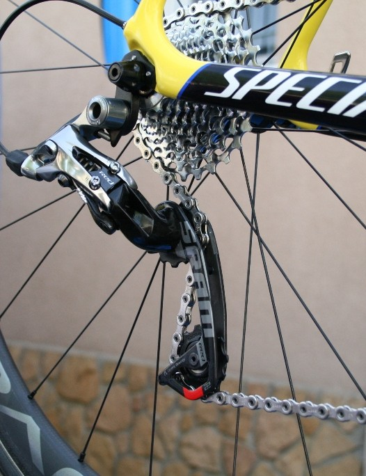 Contador's set up was the same on his spare bike