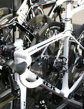 The new, probably super light, bike that Trek Factory Racing tested today