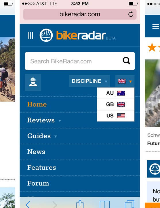 BikeRadar is enriched for viewing on a smartphone
