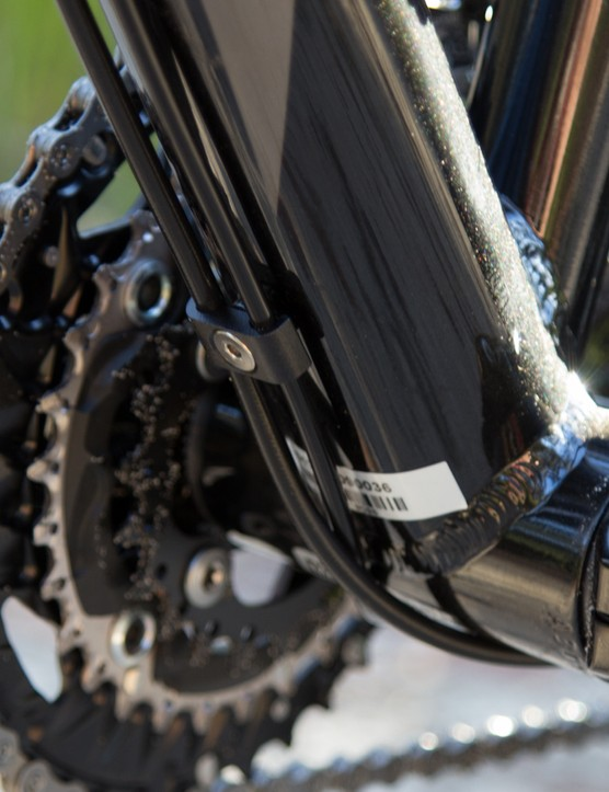 The Awaba frame features a Shimano BB92 press-fit bottom bracket, this saves a little weight, provides a greater weld surface area and cleans up the overall look