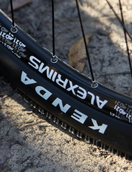 The Alex rims are claimed to be tubeless ready – but needing valves, rim tape, sealant and new tyres it's no more tubeless ready than most other standard wheels