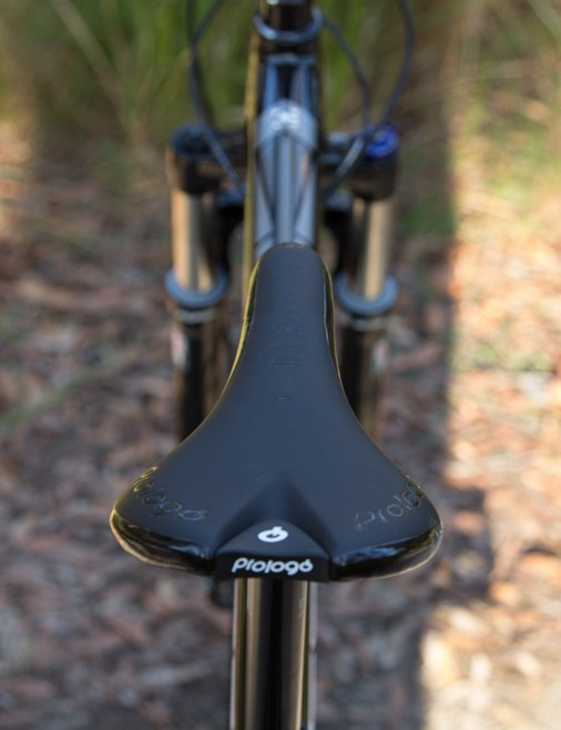 A Prologo saddle adds a little extra class to the build spec. Newer riders may find this saddle on the firm side, but it's worth pursuing with before an immediate swap-out