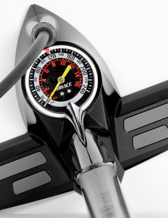 The detailed gauge can be hard to read when in a dark garage or shed