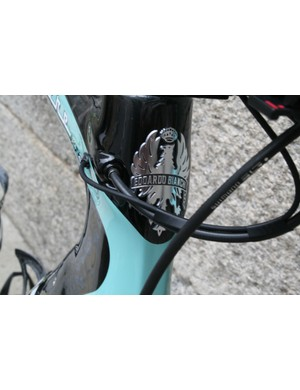 Neat cable ports next to the Bianchi badge