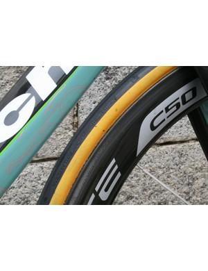The bike was shod in Vittoria Corsa SC tires