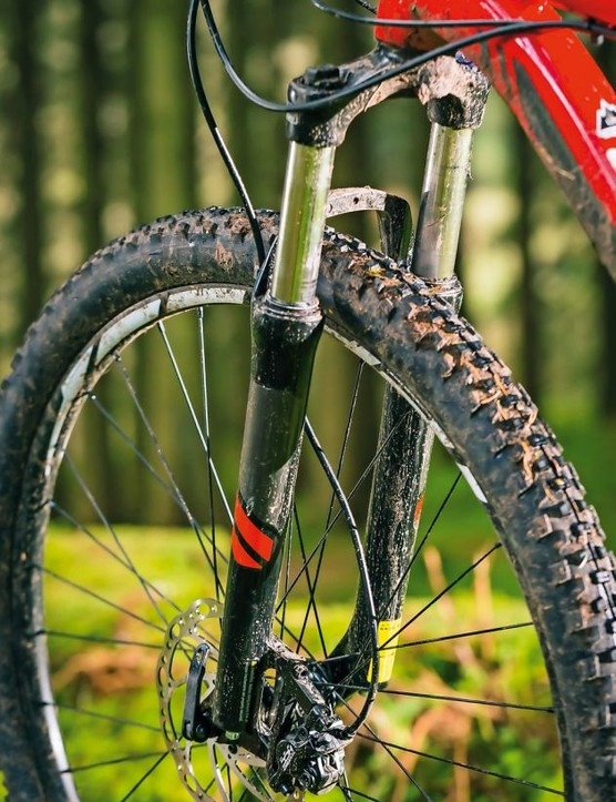 A bargain fork like SR Suntour's XCM works, but it will also flex, stutter and sag just when you need control