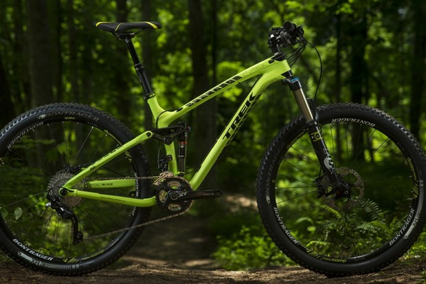 Trek is offering 27.5in (650b) versions of the Fuel EX across the entire range. Shown here is the Fuel EX 27.5 9.8. Stay tuned for a first ride review
