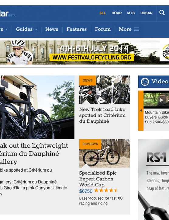 BikeRadar has three separate editions: Australia, United Kingdom and United States. Filter by your region to read stories with the correct pricing and brands that are available in your market