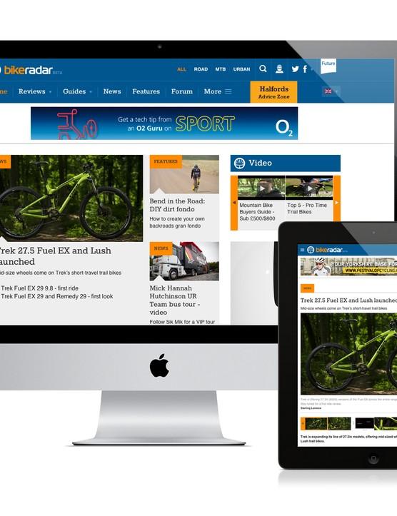 BikeRadar is enriched for viewing on a desktop, tablet or smartphone
