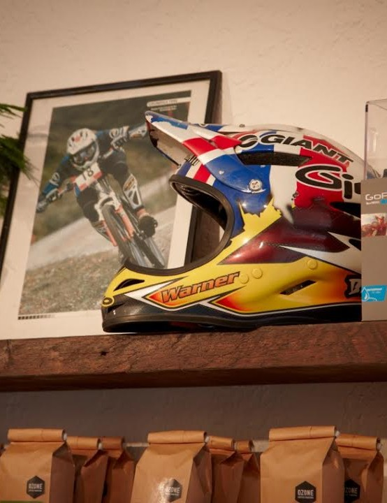 Three time UK mountain bike champion Rob Warner has kitted Soho out with plenty of his race memorabilia