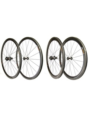 PowerTap has three new wheelsets: 35mm carbon rims, 50mm carbon rims, and a set with a 35mm front and a 50mm rear