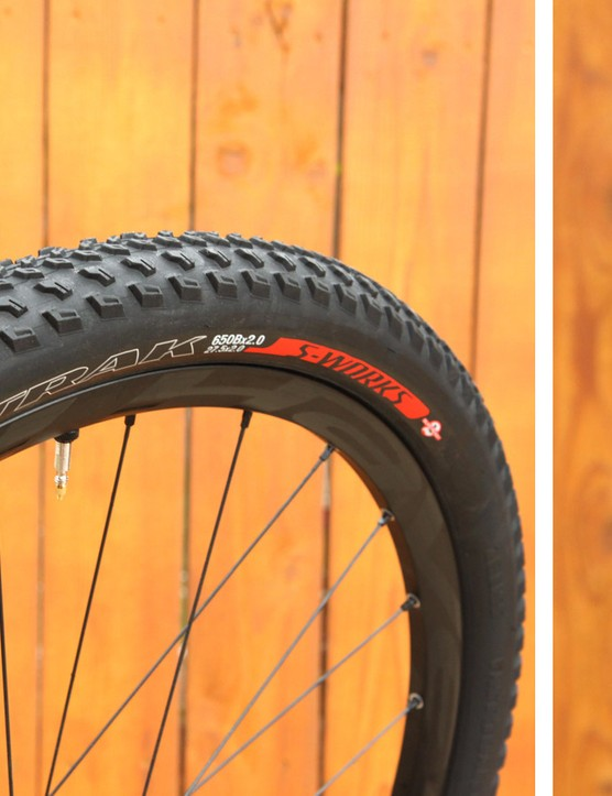 Specialized first ventured into the 650b/27.5in wheel world with four tyre models, including the S-Works Fast Trak shown here