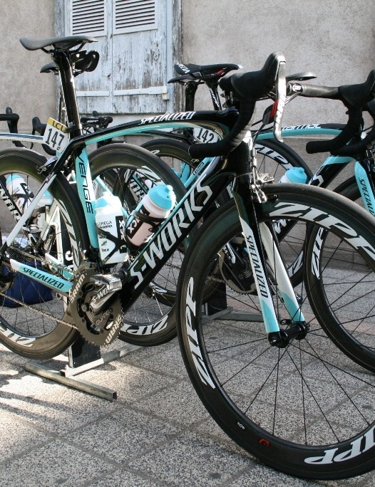 Zdenek Stybar's (Omega Pharma-QuickStep) on the Specialized Venge