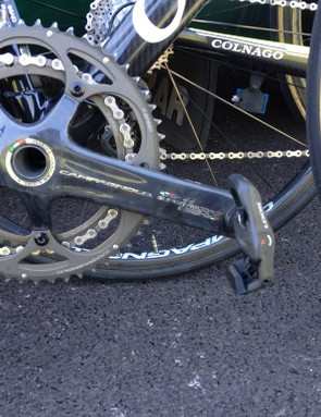 The new Campagnolo Super Record RS groupset on Thomas Voeckler's Colnago C59