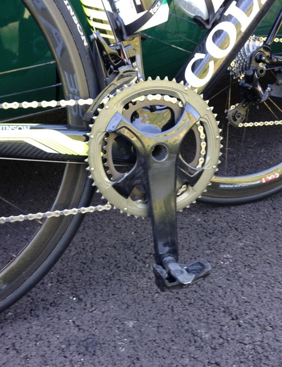 Back at Europcar, Romain Sicard was trialling Campagnolo's new prototype groupset that was first spotted at the Giro d'Italia start in Belfast