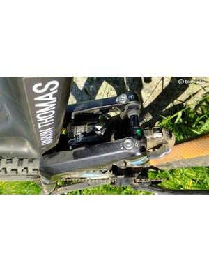 The piston's presssure can be adjusted for weight and rider preference, depending on whether they want an easier transition from XC to DH or vice versa