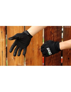 POC's Index DH gloves feature lightweight padding around the outer three knuckles that remains soft and flexible in normal conditions but stiffens up on impact