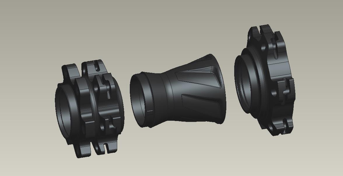SRAM increased the flange width by widening the central portion of its three-peice hub shells.