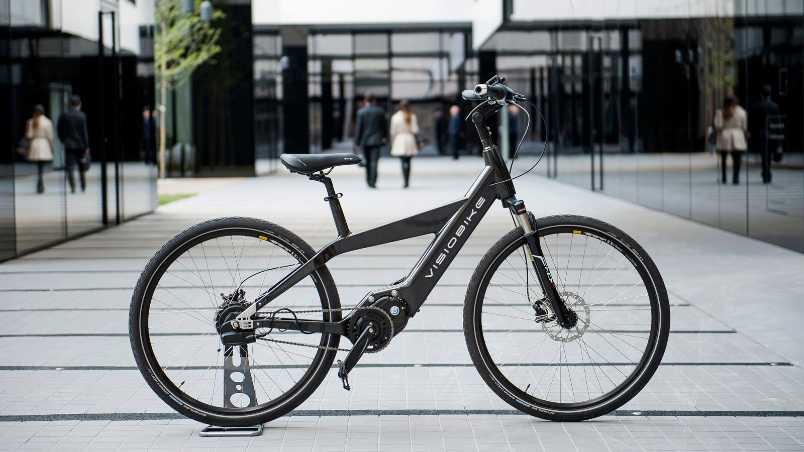 The Visiobike pedelec: amplifies the power the rider puts in