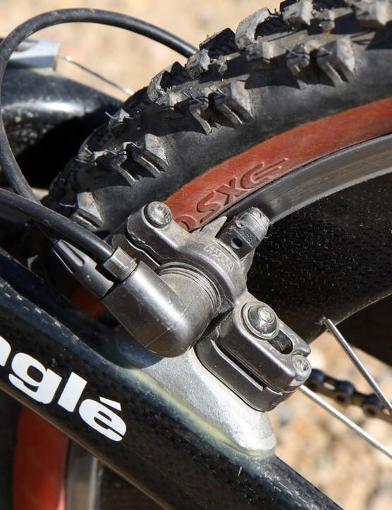 Magura hydraulic rim brake on MTB