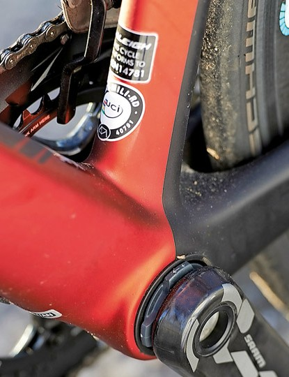 The PF30 bottom bracket and oversize junction and chainstays