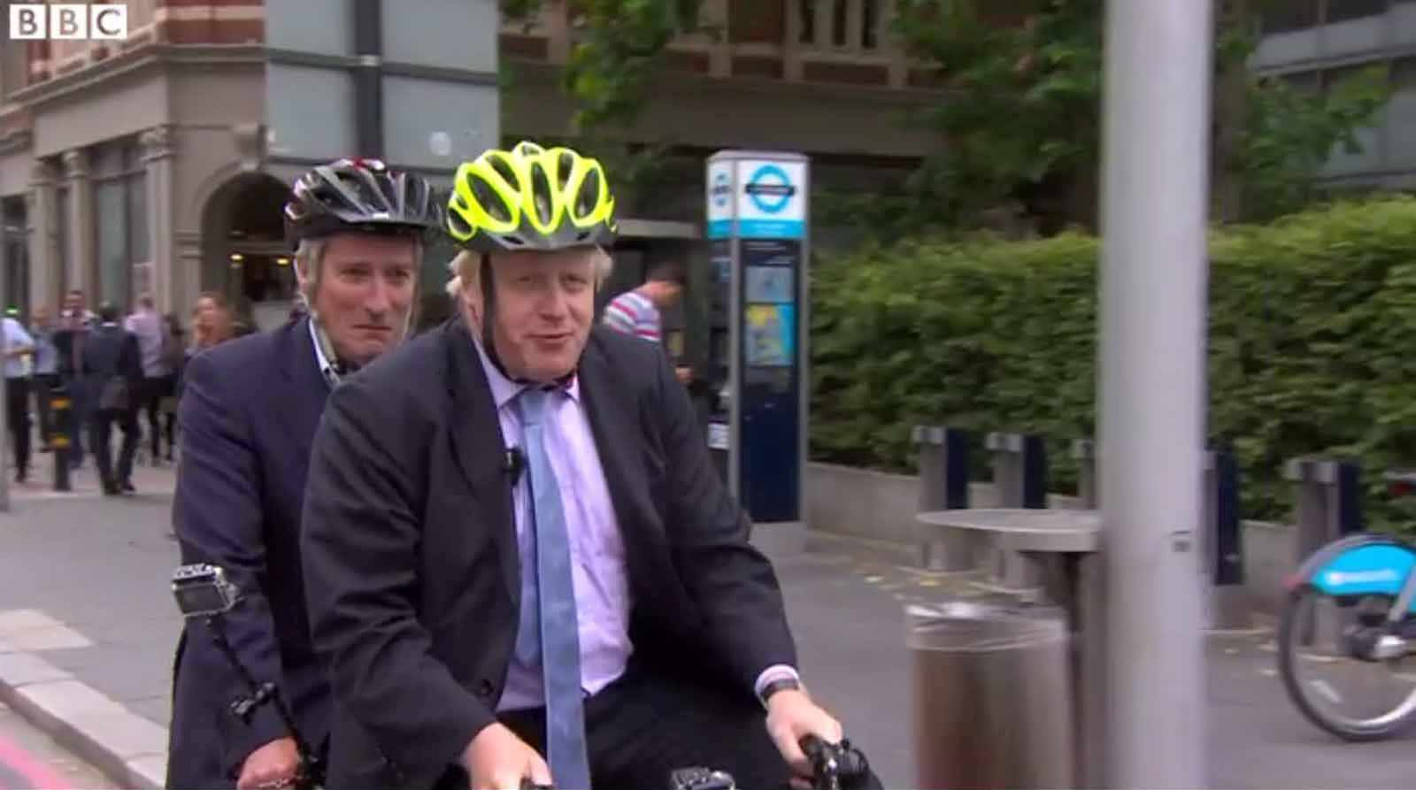 Boris Johnson takes Jeremy Paxman for a ride on the journalist's final Newsnight