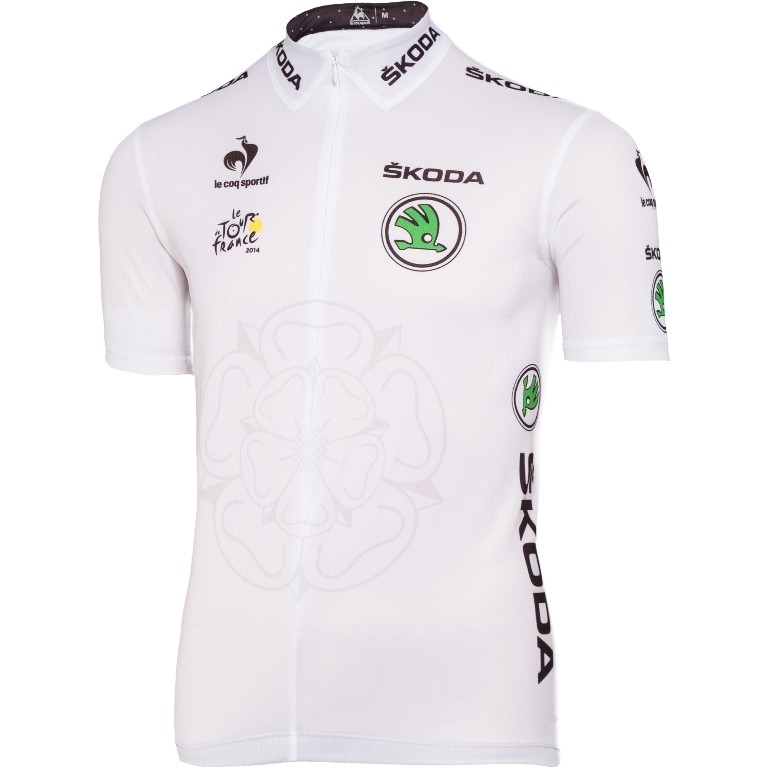 The white jersey for the best young rider