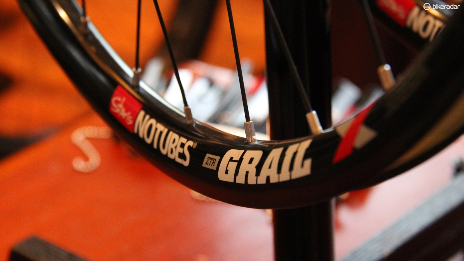 The NoTubes Grail is at home on the road as it is on a cyclocross course