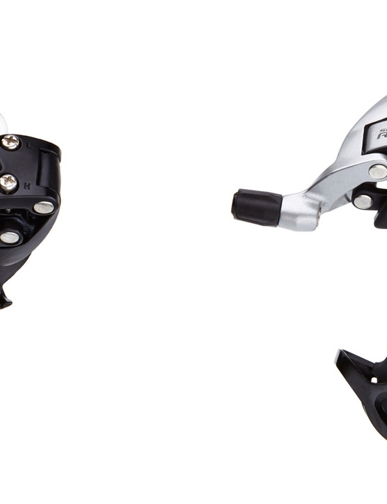 RIval 22 rear derailleur options are short cage (left) and mid cage (right)
