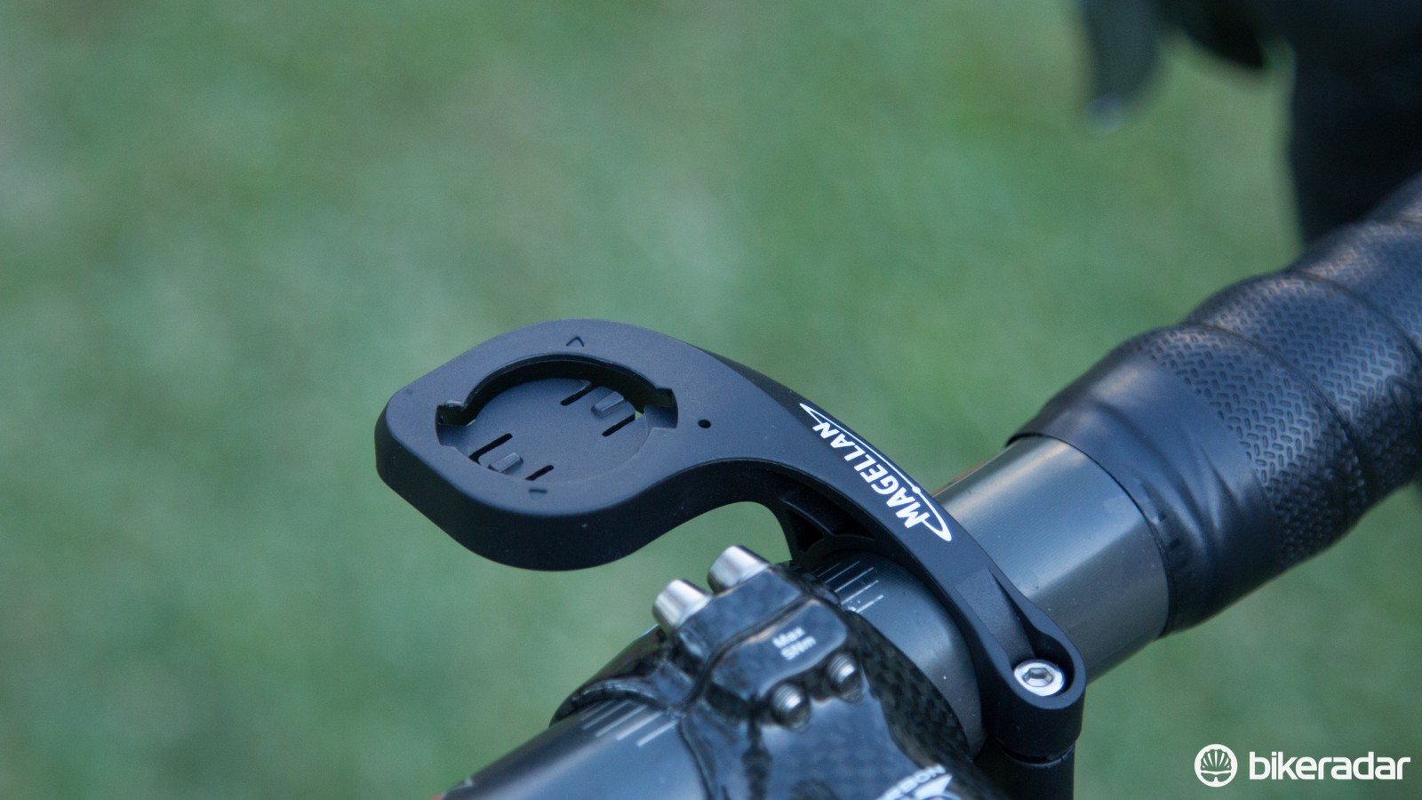 The included plastic Out-in-front mount works perfectly - assuming you have 31.8mm diameter bars