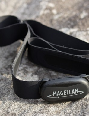 The Magellan ANT+ heart rate strap (included in the 505HC bundle) is highly flexible, comfortable and compact