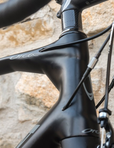The head tube area has undergone a noticeable redesign and reshaping - where the top tube meets the head tube is visibly different from existing Orcas and the top tube is flatter