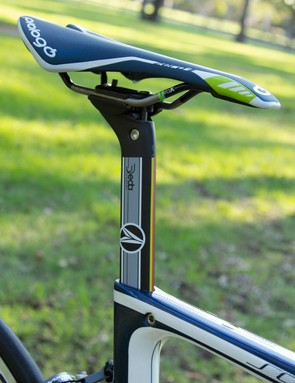 The proprietary Deda aero seatpost gives a clean look to the frame