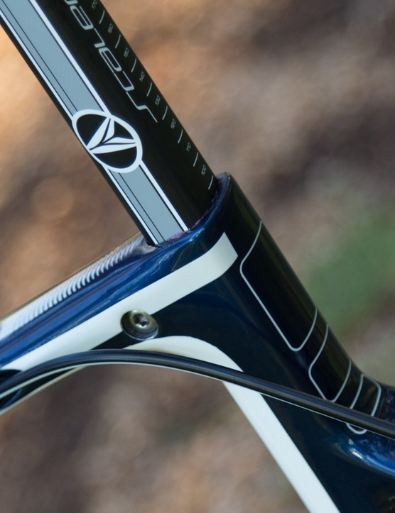 A look at the integrated seat clamp – the lack of torque markings or sign of which side to tighten from aren't ideal though